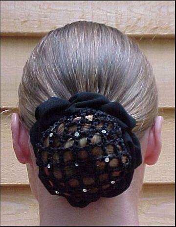 hair net scunchie w clips